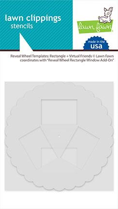 Lawn Fawn Reveal Wheel Templates: Rectangle + Virtual Friends