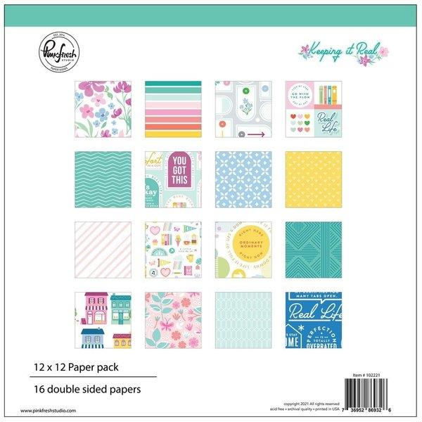 Pink Fresh Keeping It Real 12 x 12 Paper Pack