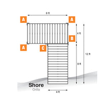 12' L-Style Aluminum Frame with PVC Decking Complete Dock Package - Woodland Brown | Tommy Docks - Dock Sets, Hardware & Accessories