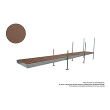 24' Straight Aluminum Frame With Composite Decking Complete Dock Package - Woodland Brown : Tommy Docks - Boat Dock Sets, Dock Hardware & Dock Accessories