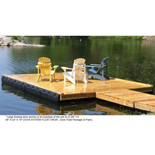 48 In. X 24 In. X 16 In. Dock System Float Drum - Dock Float Package (4-Pack) : Tommy Docks - Boat Dock Sets, Dock Hardware & Dock Accessories
