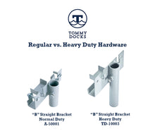 """B"" Straight Bracket - Heavy Duty : Tommy Docks - Boat Dock Sets, Dock Hardware & Dock Accessories"