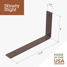 "Ninetyright 11.25"" Floating Shelf Bracket Set (2-Pack)  – Bronze : Tommy Docks - Boat Dock Sets, Dock Hardware & Dock Accessories"