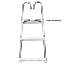 4-Step Pontoon Swim Ladder Aluminum Non-Telescope