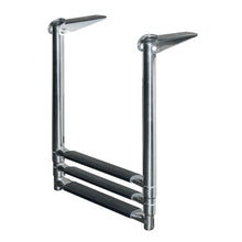 3-Step Stainless Steel Telescoping Drop Ladder