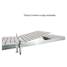 12' L-Style Aluminum Frame with PVC Decking Complete Dock Package - Ridgeway Gray