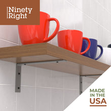 "NinetyRight 11.25"" Floating Shelf Bracket Set (2-pack) – Nickel"