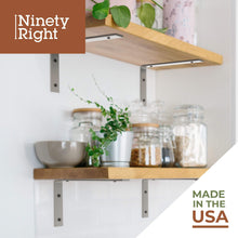 "NinetyRight 11.25"" Floating Shelf Bracket Set (2-pack) – Nickel 2"