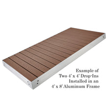 4' X 4' Drop In Panel - PVC/WOODLAND BROWN (Used for 4' X 8' Section) | Tommy Docks - Dock Sets, Hardware & Accessories