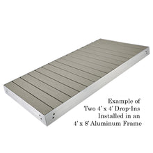 4' X 5' Drop In Panel - PVC/RIDGEWAY GREY (Used for 4' X 10' Section) | Tommy Docks - Dock Sets, Hardware & Accessories