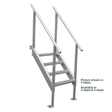 5-Step Stair Aluminum Platform Dock Ladder