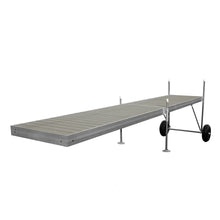 20' Roll-In-Dock Straight Aluminum Frame With Composite Removable Decking Complete Dock Package - Ridgeway Gray : Tommy Docks - Boat Dock Sets, Dock Hardware & Dock Accessories