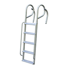 "Aluminum Swing Ladder With Handrails - 6.5"" Wide Step - 3 Lengths Available : Tommy Docks - Boat Dock Sets, Dock Hardware & Dock Accessories"