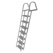 "Aluminum Angled Ladder - 5.25"" Wide Step - 4 Lengths Available : Tommy Docks - Boat Dock Sets, Dock Hardware & Dock Accessories"