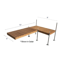 12' L-Style Cedar Complete Dock Package : Tommy Docks - Boat Dock Sets, Dock Hardware & Dock Accessories