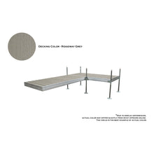 12' L-Style Aluminum Frame with PVC Decking Complete Dock Package - Ridgeway Gray | Tommy Docks - Dock Sets, Hardware & Accessories