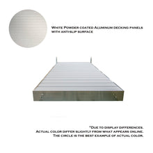 8' STRAIGHT ALUMINUM FRAME WITH ALUMINUM DECKING PLATINUM SERIES COMPLETE DOCK PACKAGE | Tommy Docks - Dock Sets, Hardware & Accessories