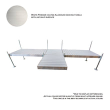 8' T-STYLE SHORE ALUMINUM FRAME WITH ALUMINUM DECKING PLATINUM SERIES COMPLETE DOCK PACKAGE | Tommy Docks - Dock Sets, Hardware & Accessories