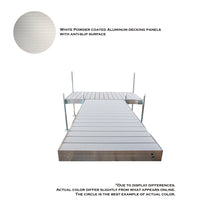 12' T-Style Aluminum Frame With Aluminum Decking Platinum Series Complete Dock Package : Tommy Docks - Boat Dock Sets, Dock Hardware & Dock Accessories