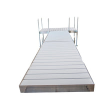 20' T-STYLE ALUMINUM FRAME WITH ALUMINUM DECKING PLATINUM SERIES COMPLETE DOCK PACKAGE | Tommy Docks - Dock Sets, Hardware & Accessories