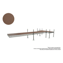 20' T-Style Aluminum Frame With Composite Decking Complete Dock Package -Woodland Brown : Tommy Docks - Boat Dock Sets, Dock Hardware & Dock Accessories