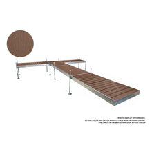 24' T-Style Aluminum Frame with PVC Decking Complete Dock Package - Woodland Brown | Tommy Docks - Dock Sets, Hardware & Accessories
