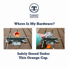 """C"" Inside Corner Bracket (2-Way) - Heavy Duty : Tommy Docks - Boat Dock Sets, Dock Hardware & Dock Accessories"