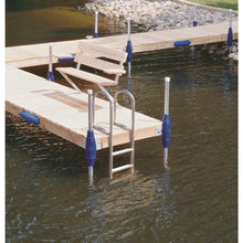 "4 Rung Aluminum Ladder - 4"" Wide Step 