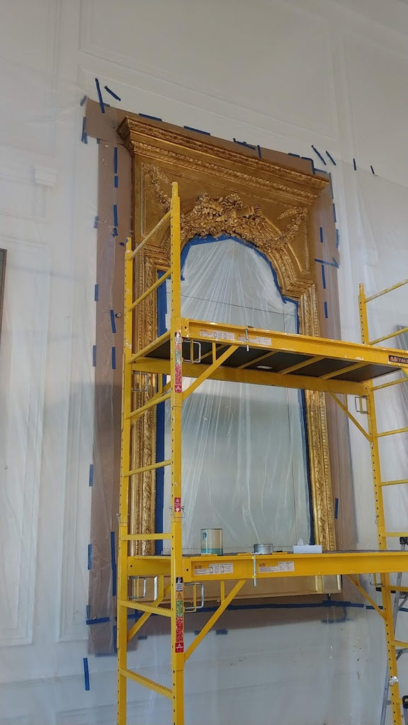 how to gold leaf a mirror