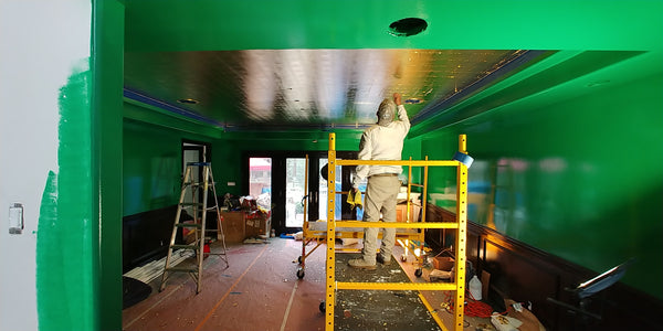 Green lacquer ceiling los angeles