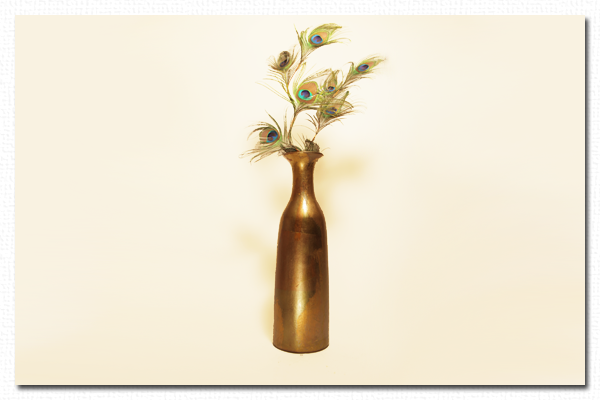 Skinny Gold Leaf Vase California Wall Design Inc