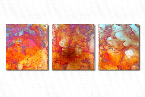 Triptych of Color-California Wall Design Inc.