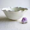 Flower Bowl 5 cup Cream crystals with blue, purple and gold
