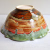 Ceramic Flower Bowl in Autumn Song or Turquoise Sunset