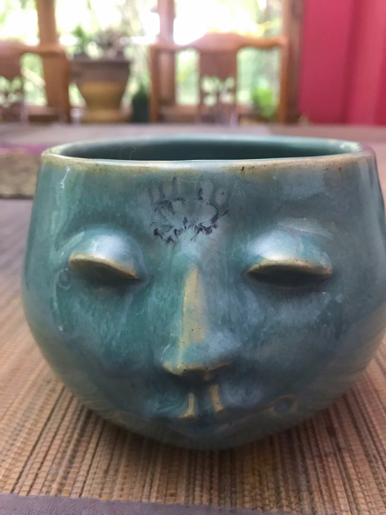"Spirit Vessel in Turquoise glaze 4"" H Third Eye"