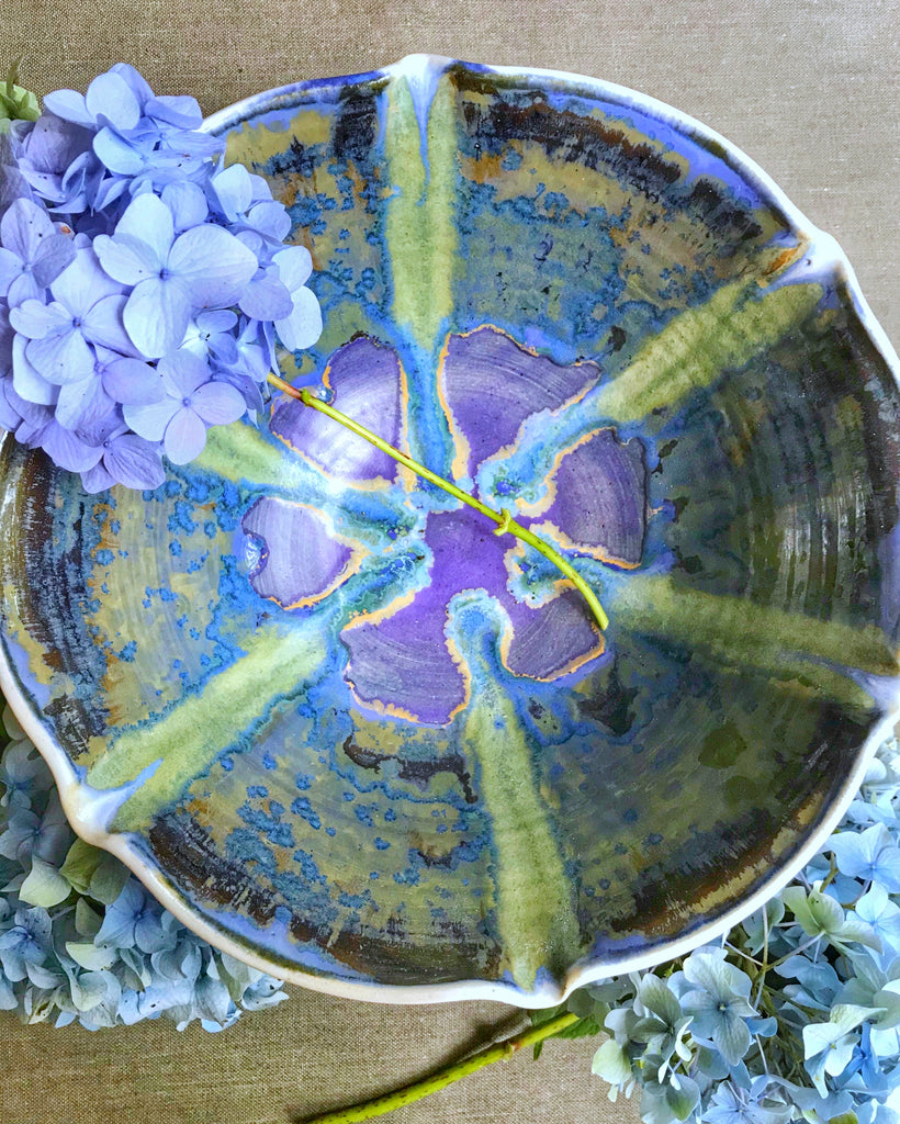 Flower bowl in Crystalline Rain 10 cup