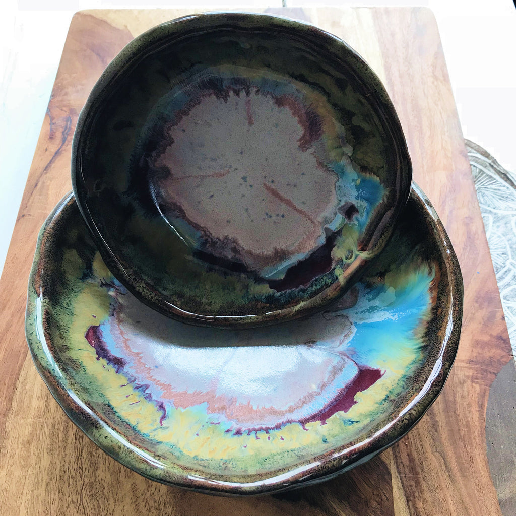 Urban Rustic nesting bowl set in River Journey