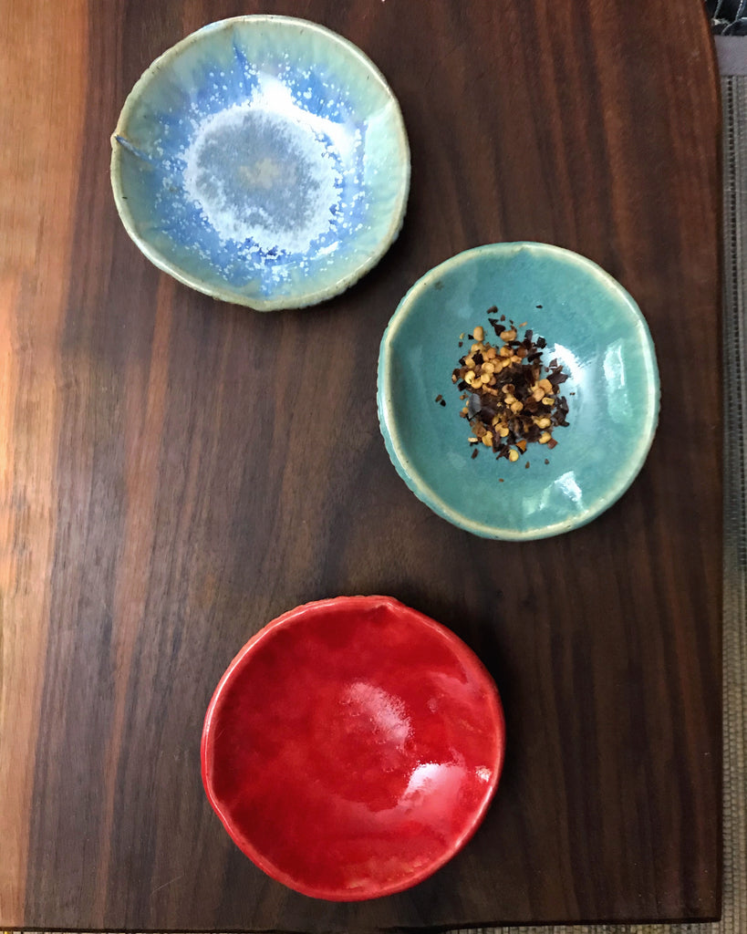 dipping sauce bowls Southwest vibes set of 3
