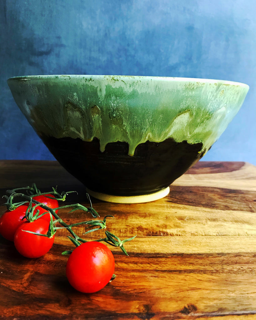 Noodle Bowl 6 cup in Green Tea and Khaki or Green Tea