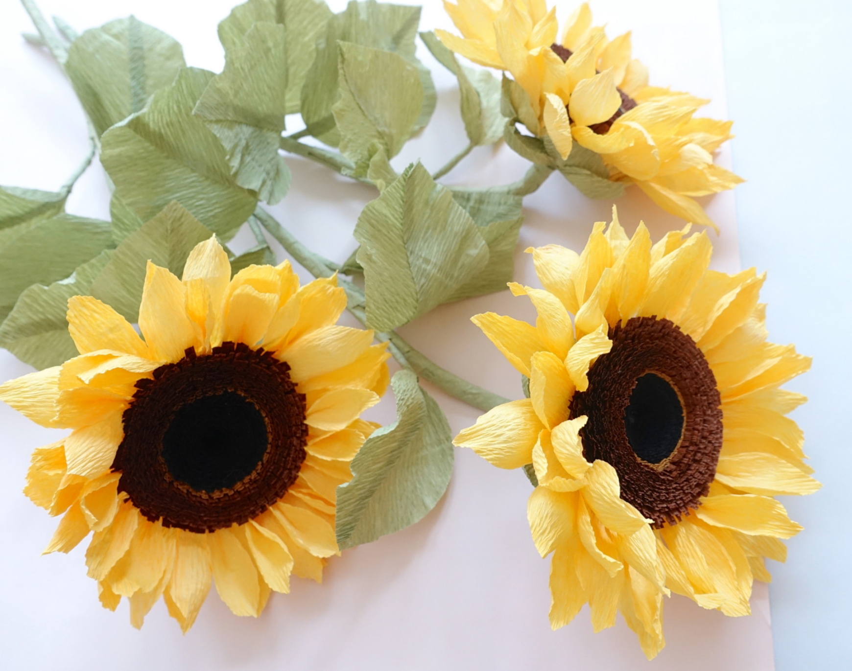Crepe Paper Sunflowers Video Tutorial