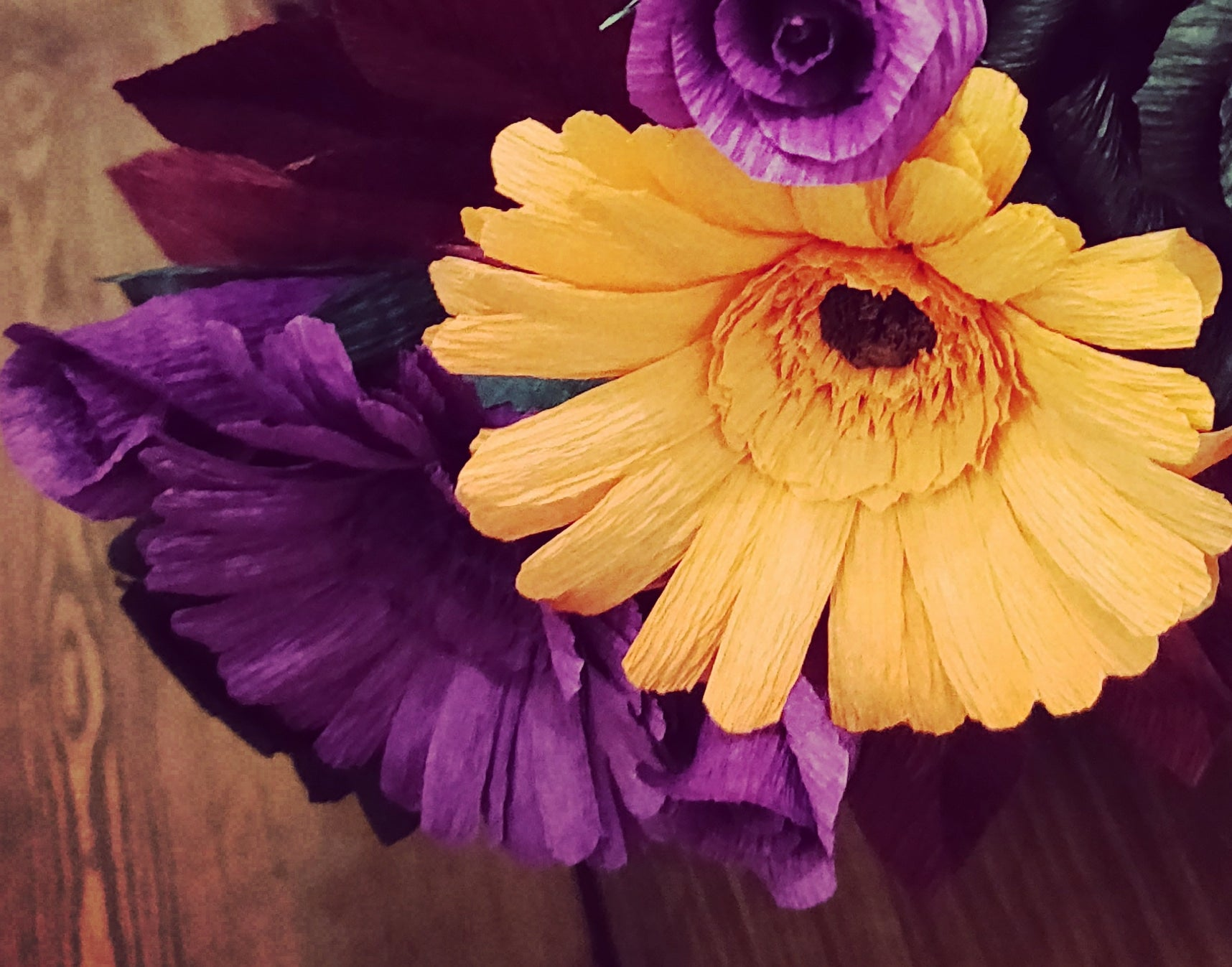 Orange and Purple Gerbera Daisies