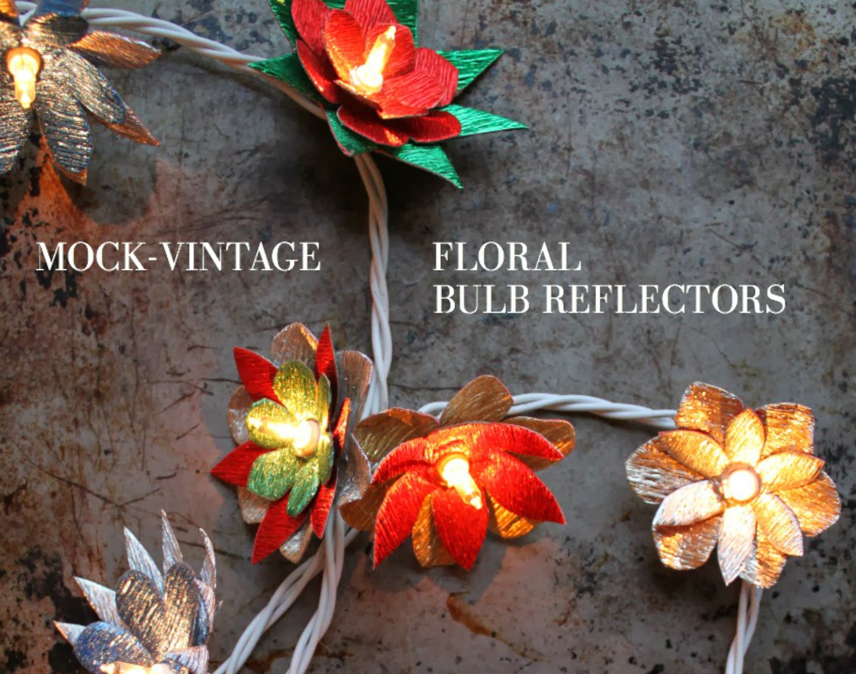 tiffanie turner mock vintage bulb reflectors diy