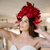 Made-to-order Crepe Paper Flower Bridal Headpieces