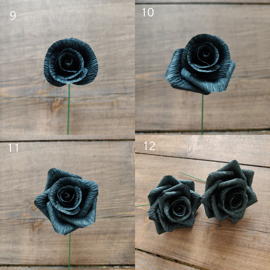 crepe paper rose cupping