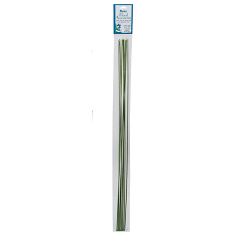 16 Gauge Floral Stem Wire - Cloth Covered - Green