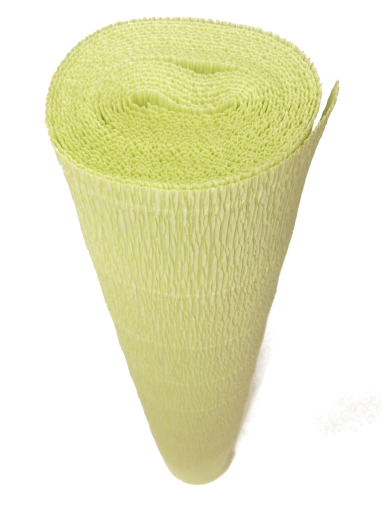 Italian Crepe Paper roll 180 gram - 566 LIME PULP
