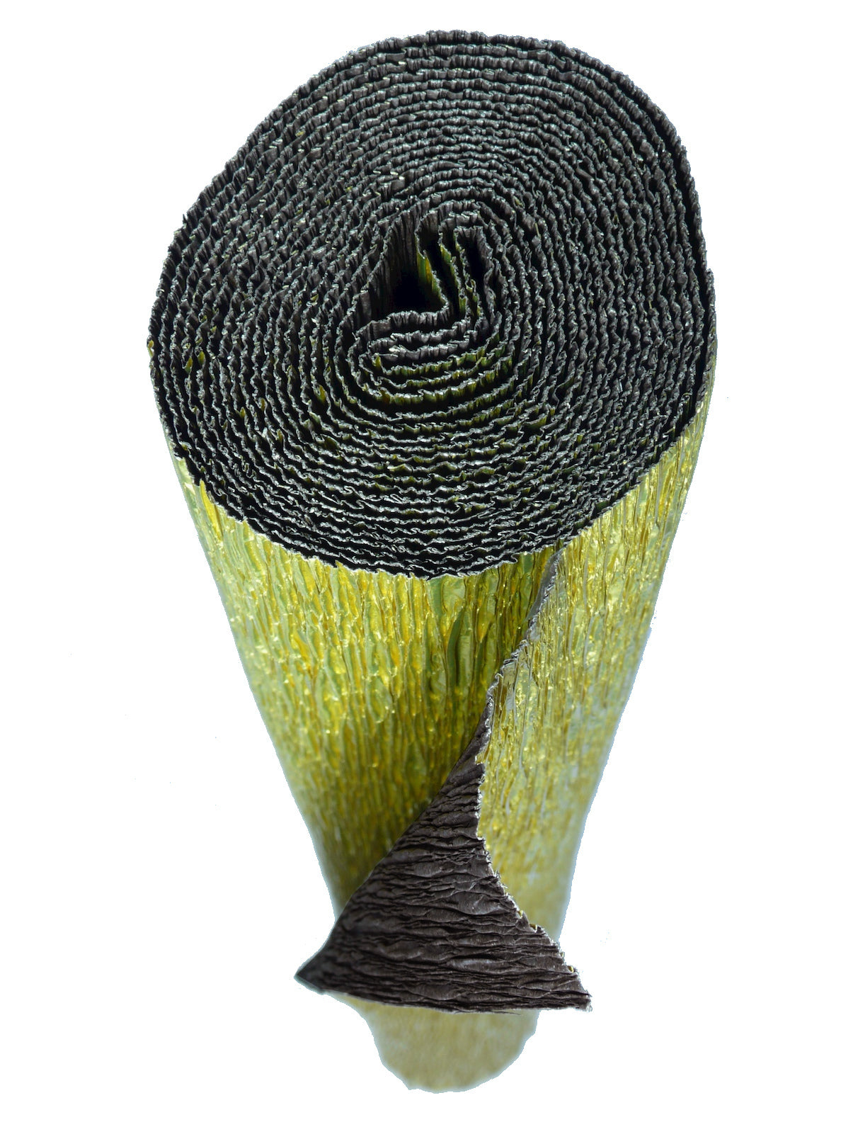 Italian Crepe Paper roll 180 gram - 801/7 Bi-Color METALLIC GOLD/DARK BROWN