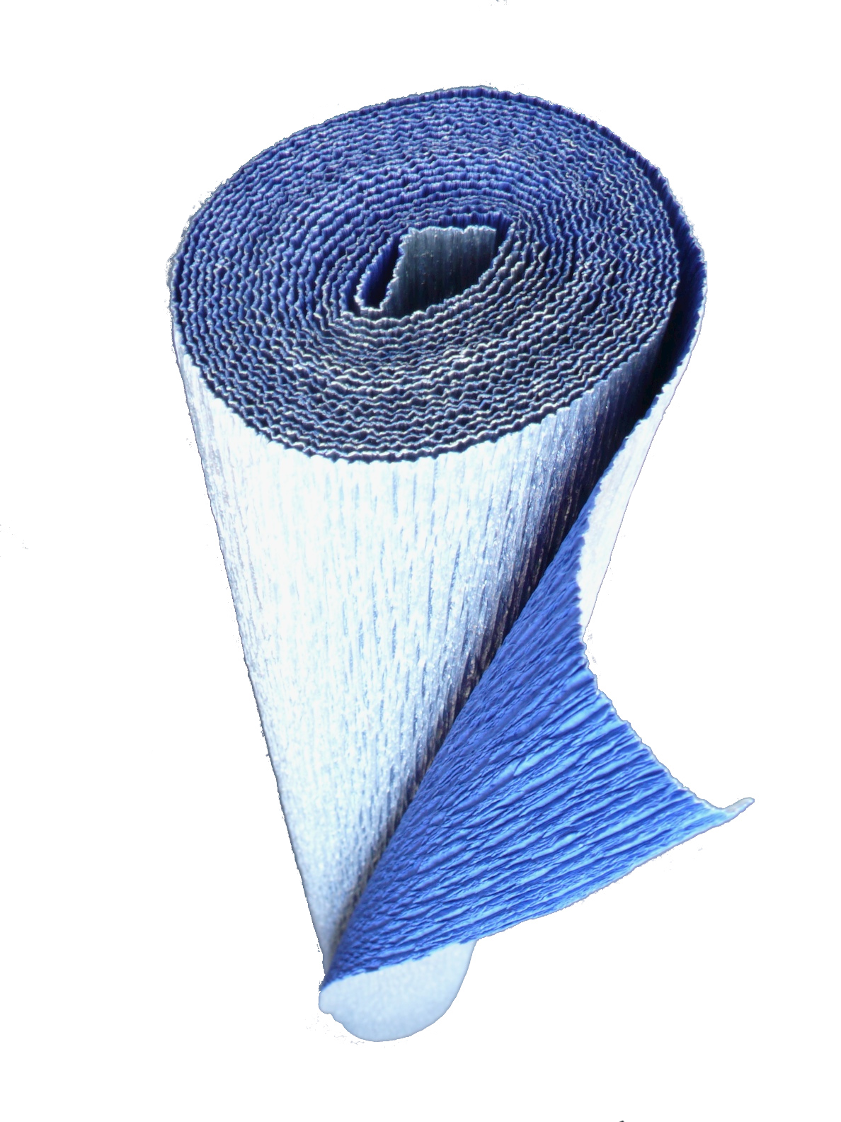 Italian Crepe Paper roll 180 gram - 802/6 Bi-Color METALLIC SILVER/BLUE