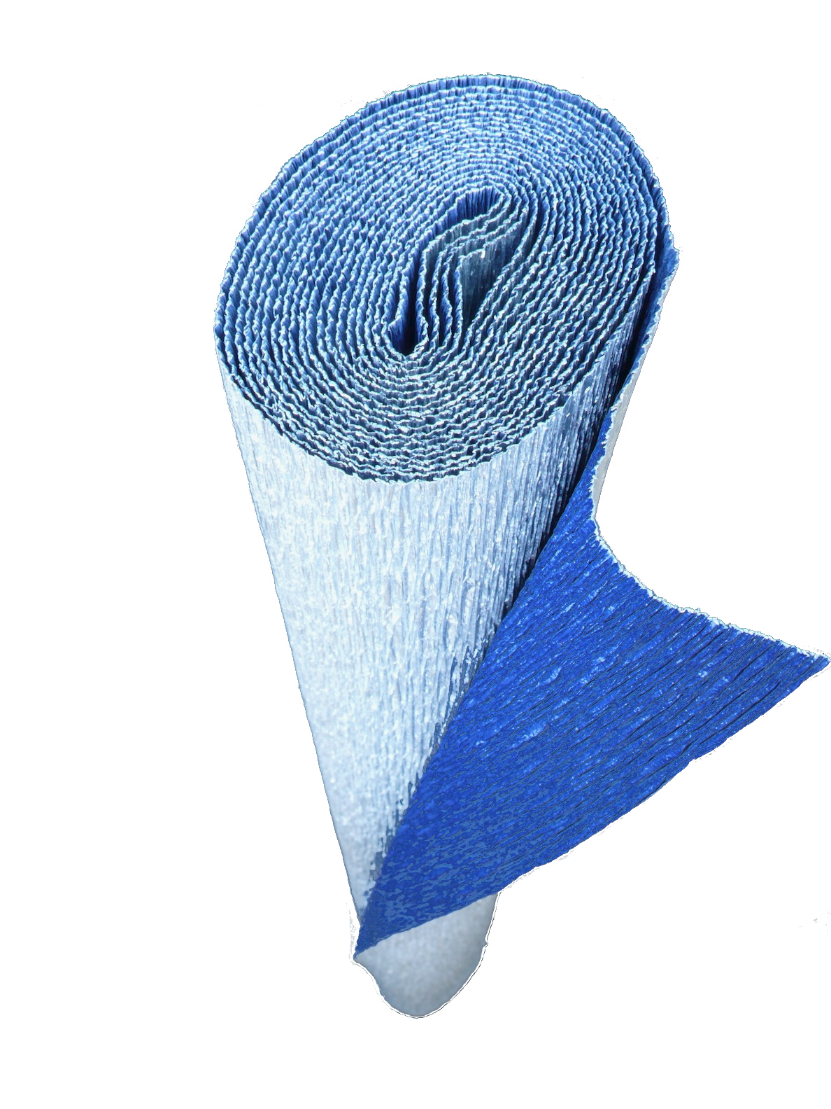 Italian Crepe Paper roll 180 gram - 802/7 Bi-Color METALLIC SILVER/NAVY BLUE
