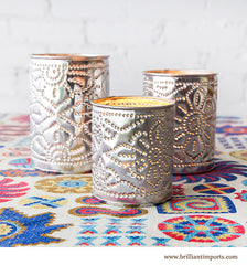 Aluminum Candle Holder Set